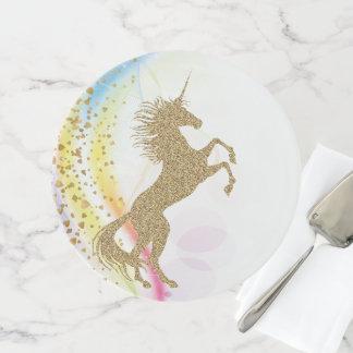 Magischer Einhorn-Kuchen-Stand Tortenplatte