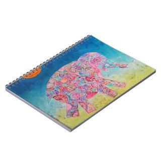 Magischer Elefant - magisches Notizbuch Spiral Notizblock