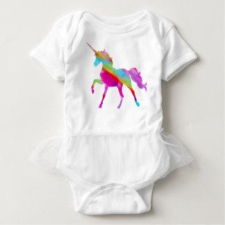 Magischer funkelnd Regenbogen tänzelnder Unicorn Baby Strampler