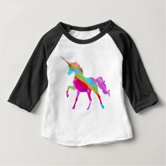 Magischer funkelnd Regenbogen tänzelnder Unicorn Baby T-shirt