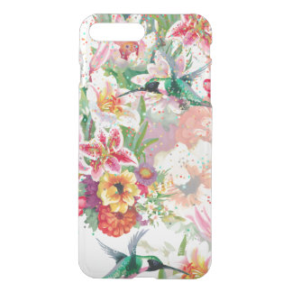 Magischer Garten-Kolibri-Blumenfrühling iPhone 8 Plus/7 Plus Hülle