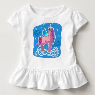 Magischer niedlicher rosa Unicorn mit Kleinkind T-shirt