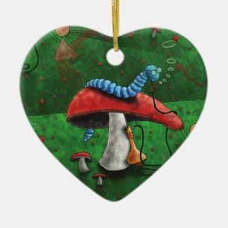 Magischer Pilz Keramik Herz-Ornament