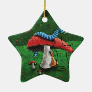 Magischer Pilz Keramik Stern-Ornament