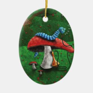Magischer Pilz Ovales Keramik Ornament