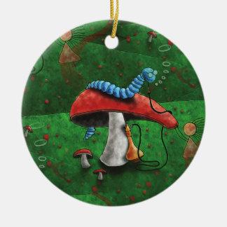 Magischer Pilz Rundes Keramik Ornament
