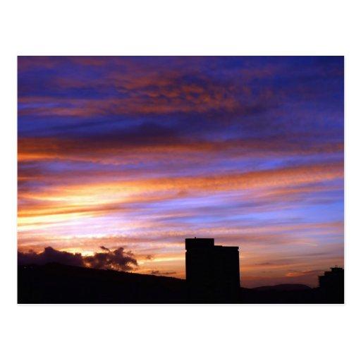 Magischer Sonneaufstieg in Hawaii Postkarte
