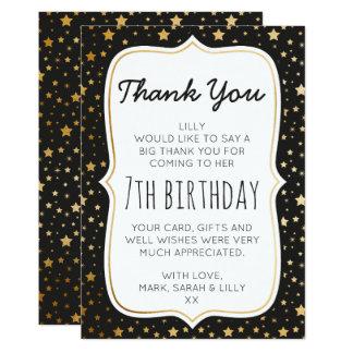Magischer themenorientierter Geburtstag danken Karte
