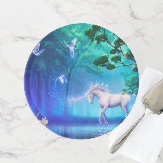Magischer u. mystischer Fantasie UnicornsThe Tortenplatte