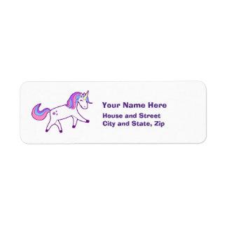 Magischer Unicorn mit der rosa, lila und blauen