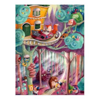Magischer Wald Postkarte