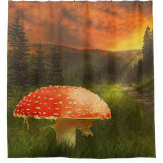 Magischer Walddruck-Duschvorhang Duschvorhang