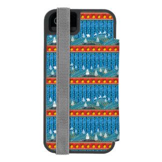 Magischer Weihnachtshintergrund Incipio Watson™ iPhone 5 Geldbörsen Hülle
