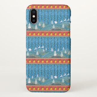 Magischer Weihnachtshintergrund iPhone X Hülle