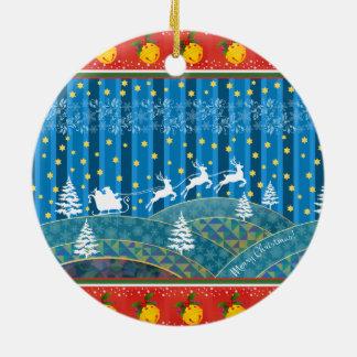 Magischer Weihnachtshintergrund Keramik Ornament