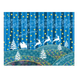 Magischer Weihnachtshintergrund Postkarte