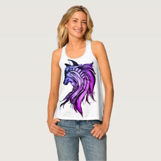 Magischer Wolf, blau und lila Tanktop
