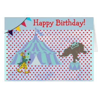 Magischer Zirkus-Zelt-Szenen-Kindergeburtstag Karte