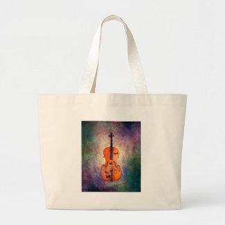 Magisches Cello mit Schmetterlingen Jumbo Stoffbeutel