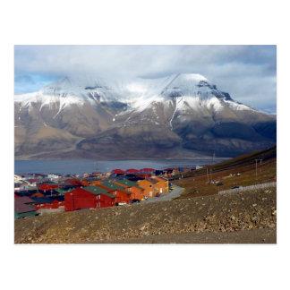Magisches Longyearbyen, Svalbard Postkarte