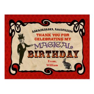 Magisches Party danken Ihnen Postkarte