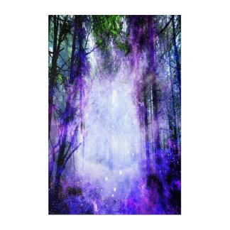 Magisches Portal im Wald Acryldruck