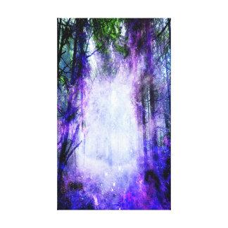 Magisches Portal im Wald Leinwanddruck