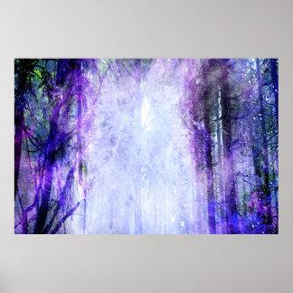 Magisches Portal im Wald Poster