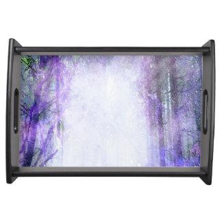 Magisches Portal im Wald Tablett