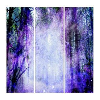 Magisches Portal im Wald Triptychon