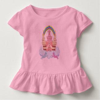 Magisches Schloss mit niedlicher Kleinkind T-shirt