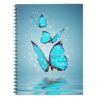 Magisches Schmetterlings-Notizbuch Spiral Notizblock
