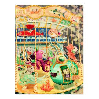Magisches Seekarussell Postkarte