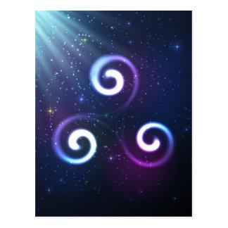 Magisches triskel postkarte