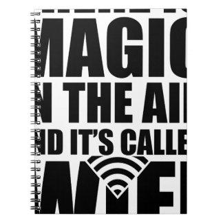 Magisches wifi notizblock