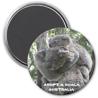 Magnet adoptieren einen Koala Australien ZIZZAGO Runder Magnet 7,6 Cm