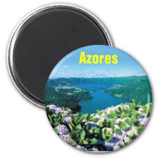 Magnet-Azoren-Kühlschrankmagnet Azoren (Azoren) Az Runder Magnet 5,1 Cm