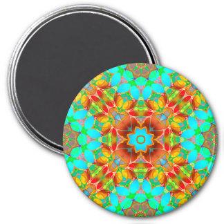 Magnet-BlumenFraktal-Kunst G410 Runder Magnet 7,6 Cm