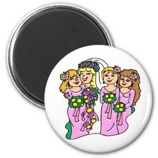 Magnet: Brautjungfern im Rosa Magnets
