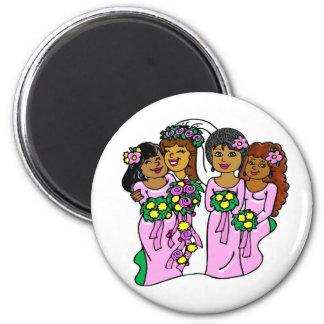 Magnet Brautjungfern in Rosa II Kühlschrankmagnet