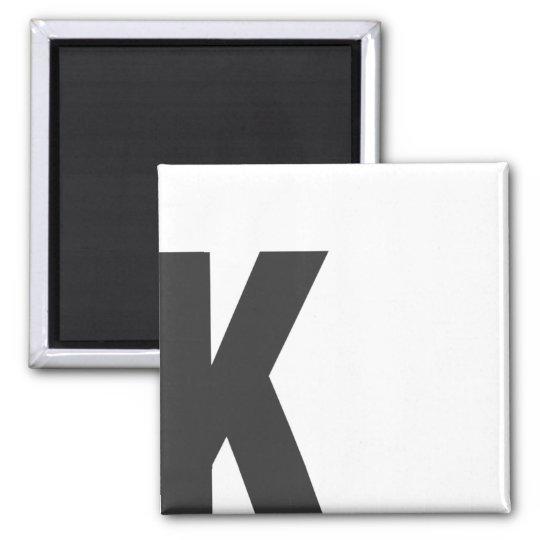 "Magnet Buchstabe ""K"""