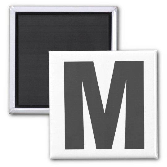 """Magnet Buchstabe """"M"""" Quadratischer Magnet"""