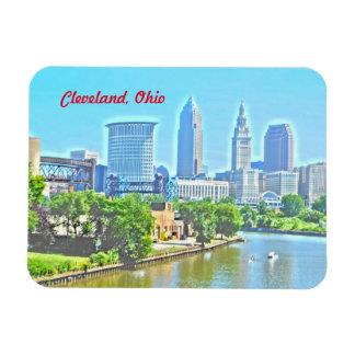 Magnet Clevelands der Ohio Ansicht-(Farben-Effekt)