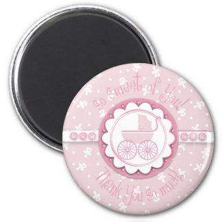 Magnet des Bonbon-einer des Mädchen-TY Runder Magnet 5,1 Cm
