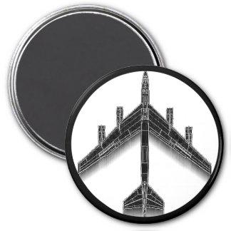 Magnet des FriedensB-52 Runder Magnet 7,6 Cm