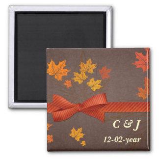 Magnet des Herbstes Save the Date Quadratischer Magnet