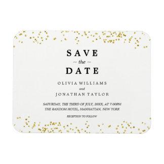 Magnet des Imitat-Goldconfetti-| Save the Date