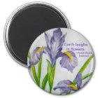 Magnet-Erde lacht in den Blumen., ~Ralph Wald… Runder Magnet 5,1 Cm