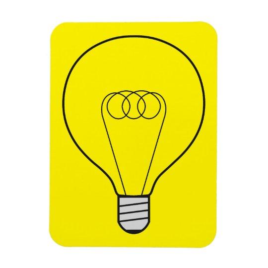 Magnet gelb mit Glühbirne