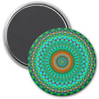 Magnet-geometrische Mandala G388 Runder Magnet 7,6 Cm